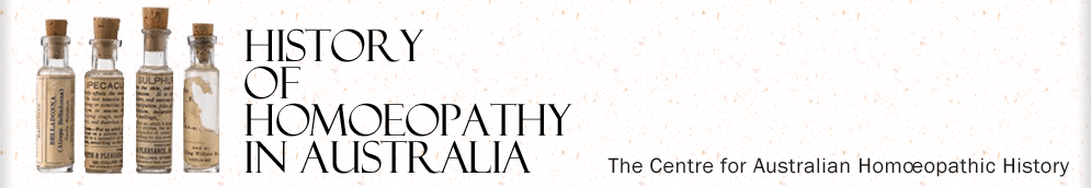 The History of Homeopathy in Australia